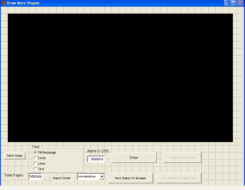 VFP - How to draw rectangles , circles, lines, text and