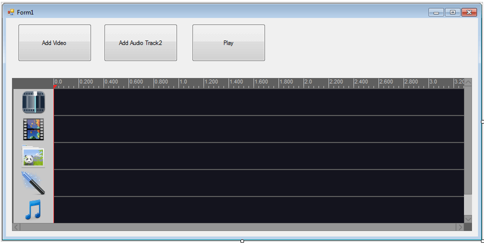 C# - How to mixing audio tracks on Movie Maker Timeline Control?