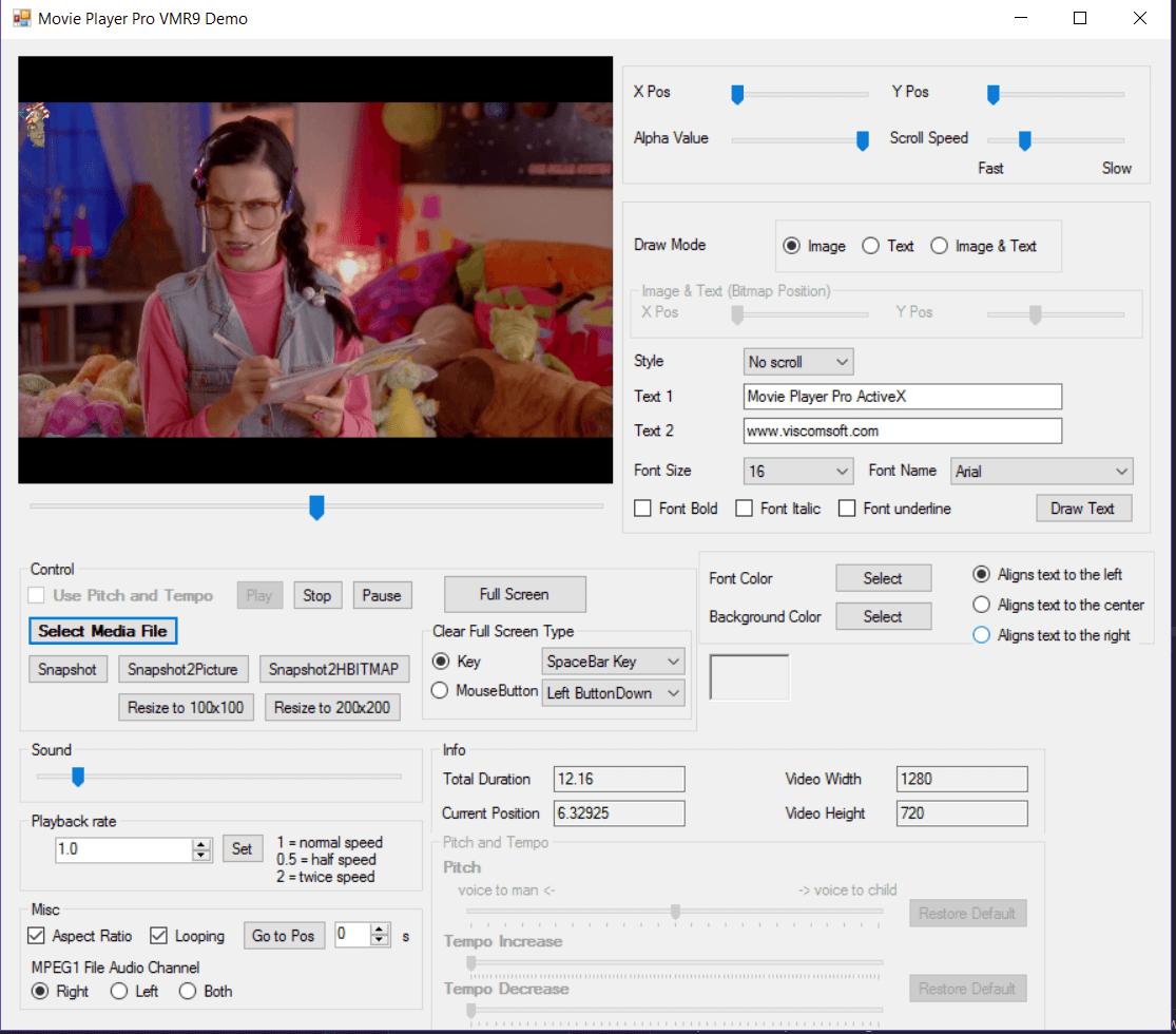 Media Player SDK ActiveX OCX, AVCHD M2TS, MP4 FLV SWF Player