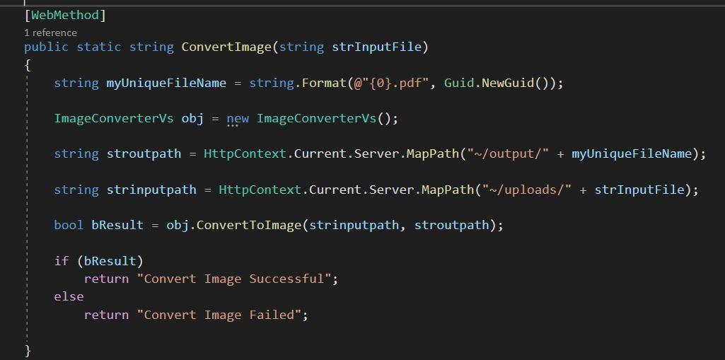 ASP.NET Image Converter  SDK Component full screenshot