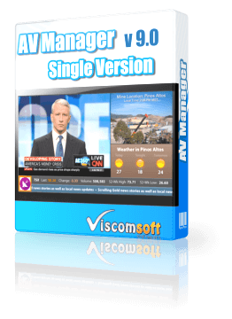AV Manager Digital Display Software Single Version