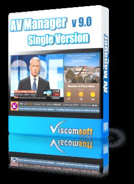 AV Manager Digital Display Software Single Version
