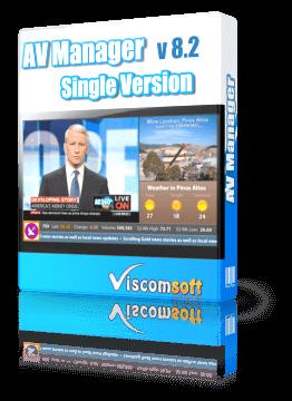 AV Manager Multimedia Display Software Single Version