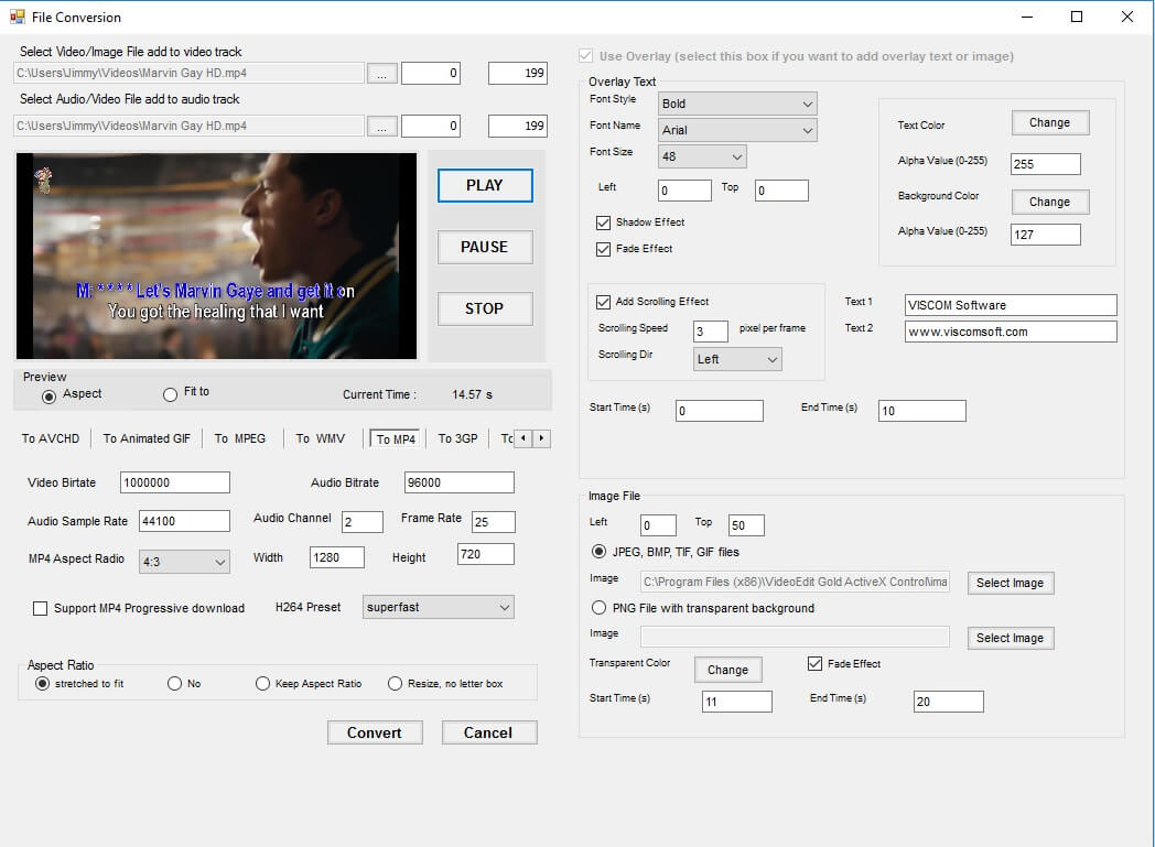 VISCOM Video Edit Gold SDK ActiveX Screen shot