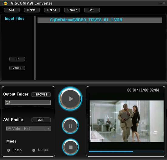 Click to view VISCOM AVI Converter screenshots