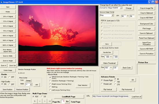 Image Viewer CP Gold ActiveX full screenshot