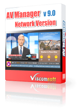 AV Manager Digital Display Software Network Version