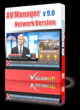 Digital Signage Desktop Software - AV Manager Network Version