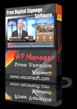 Free Digital Signage Software - AV Manager Free