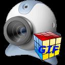 Free GIF 3D Cube Webcam