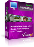 AV Manager Digital Signage Network Version 8.0