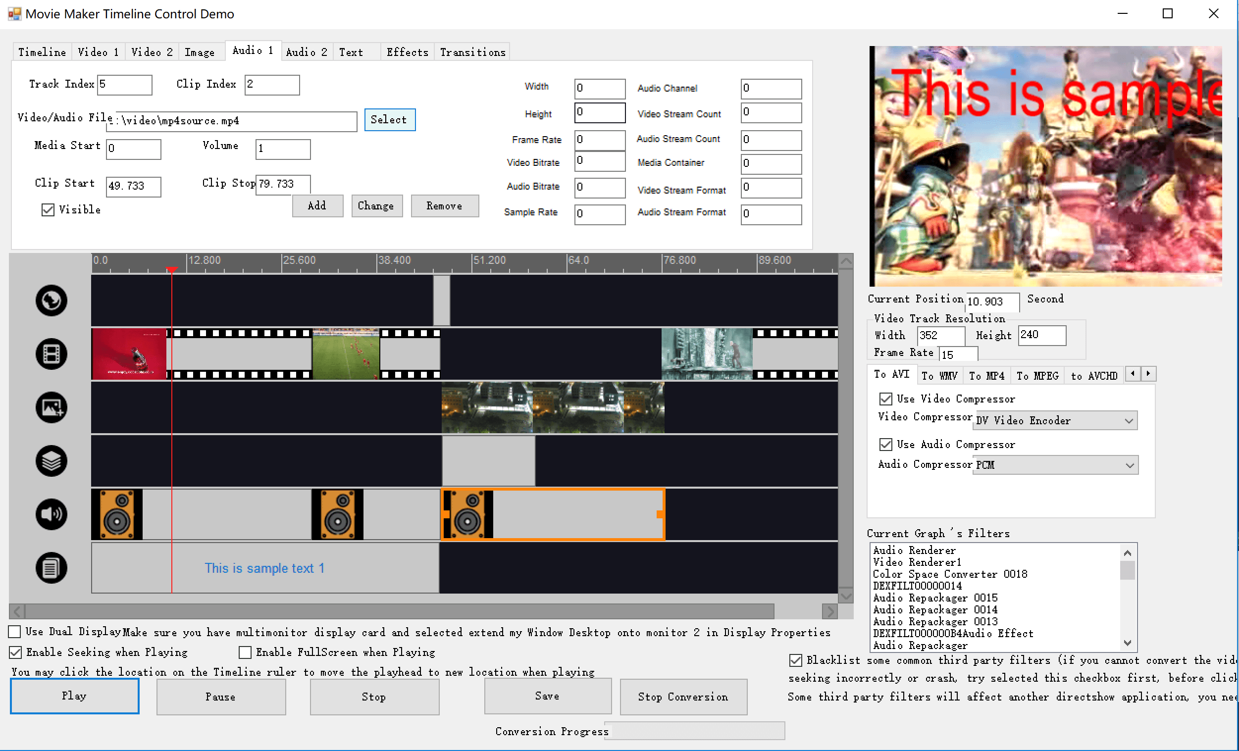Movie Maker Timeline SDK full screenshot